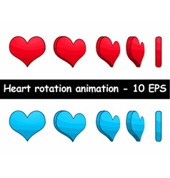 Heart rotation animation vector