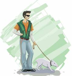 pet dog vector image