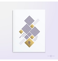 Abstract Brochure Booklet Book or Report vector image