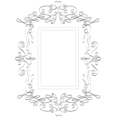 Abstract victorian frame vector