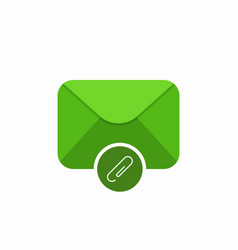 attach attachment email mail icon vector image vector image