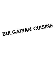 Bulgarian cuisine rubber stamp vector