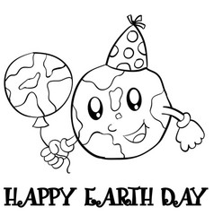 collection stock earth day hand draw vector image
