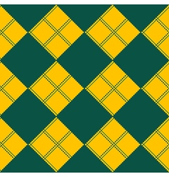 Diamond chessboard yellow green background vector
