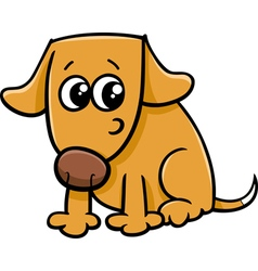 Dog or puppy cartoon vector