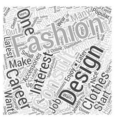 Fashion careers you may be interested in word vector