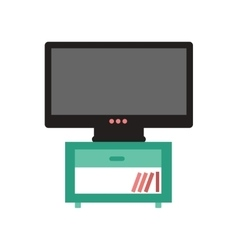 Flat web icon on white background plasma tv vector