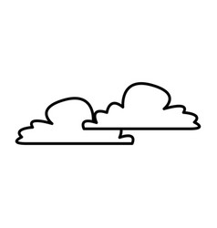fluffy cloud weather heaven sky cottony icon vector image