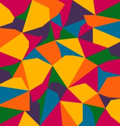 full color spectrum abstract polygon background vector image vector image