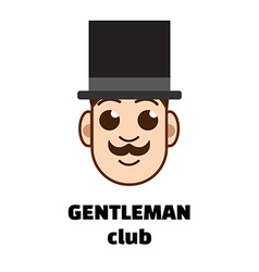 gentleman club logo vector image vector image