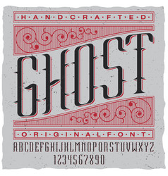 Handcrafted ghost poster vector