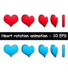 Heart rotation animation vector image