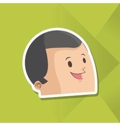 Icon of man cartoon design vector image vector image