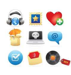 Icons for concepts vector image vector image