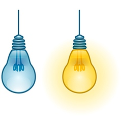 Lightbulb Turned On and Off vector image