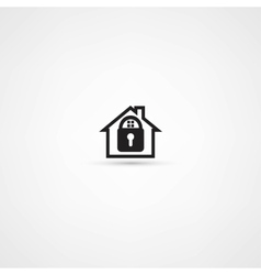 Lock house icon vector image vector image