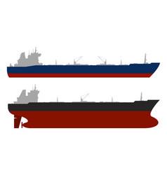 oil tankerss set vector image