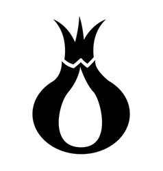 onion fresh vegetable icon vector image