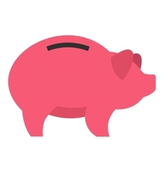 Piggy icon flat style vector image