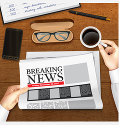 realistic business newspaper vector image