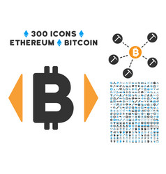 Regulate bitcoin price flat icon with clip art vector