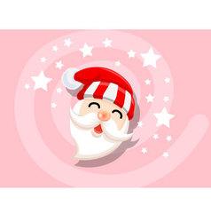 Santa icon christmas vector