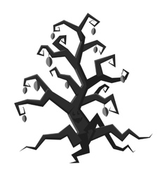 Scary tree icon gray monochrome style vector