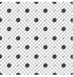Seamless dots pattern seamless on isolated vector