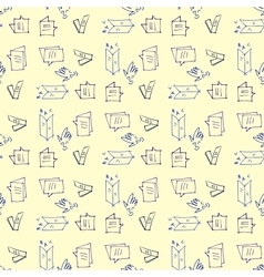 Seamless pattern on the topic of education vector