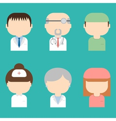 Set of doctors icons vector image vector image