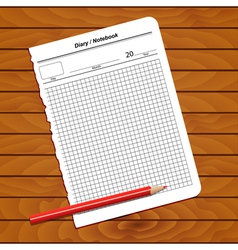 Sheet of notepad vector image vector image