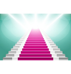 Staircase with pink carpet large resolution 3d vector