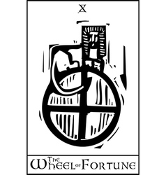 Tarot Card Wheel of Fortune vector image vector image