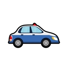 Police car auto vehicle transportation icon vector