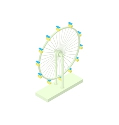 Ferris wheel icon cartoon style vector