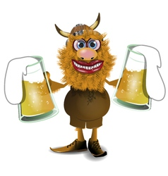 Viking with beer vector