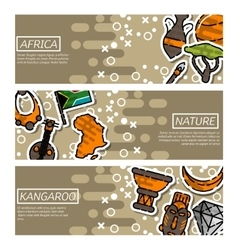 Set of horizontal banners about africa vector