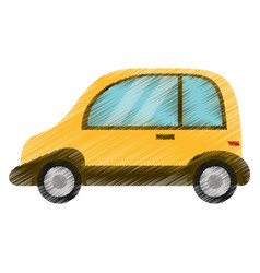 Drawing automobile vehicle image vector