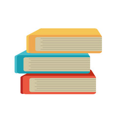 Stack book school image vector