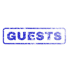 Guests rubber stamp vector
