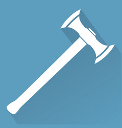 Medieval battle axe vector