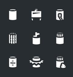 Set of bridge pile installation icons vector