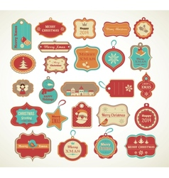Xmas set - labels tags and decorative elements vector