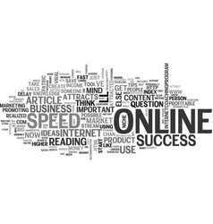 What attracts online success text word cloud vector