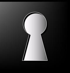 Keyhole sign gray 3d printed vector