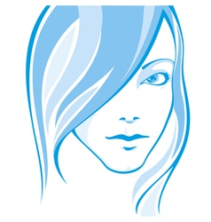 Portait of a girl vector