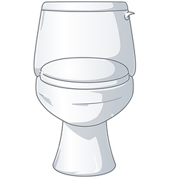 White shiny toilet vector