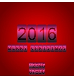 2016 new year red pink card odometer vector