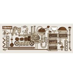 Coffee house vector