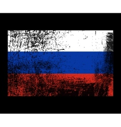 Russia grunge flag vector